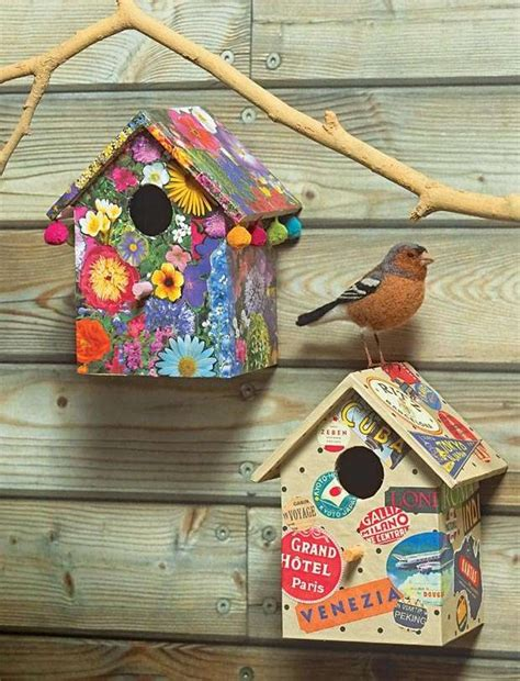 get creative with paper and design a unique bird box