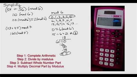calculator modulo modular arithmetic calculator gallery