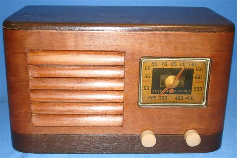 ge cabinet radio ge general electric 1940 table am radio model hj 514