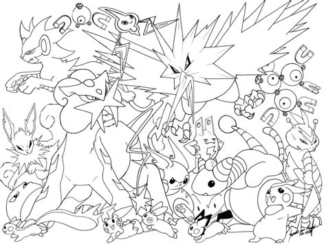 151 pokemon collage coloring pages coloring pages