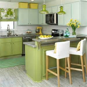 painting kitchen cabinets two colors bhg style spotters
