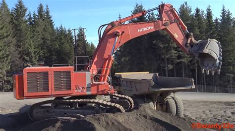 hitachi zaxis  lcr loading volvo adt dumpers youtube