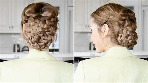 fancy a change of hair stule fancy braided updo easy holiday hairstyle fancy hair