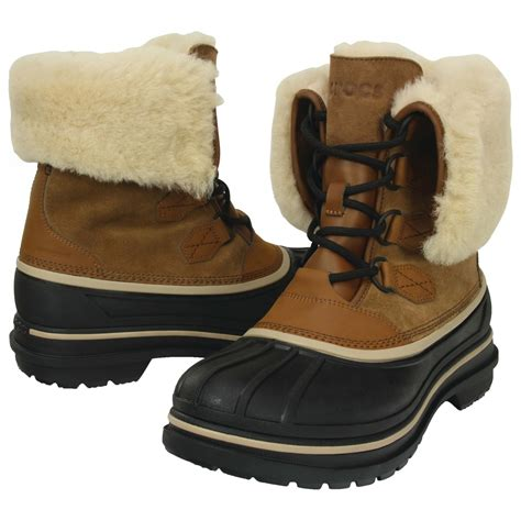 crocs allcast ii luxe boot winter boots mens  uk