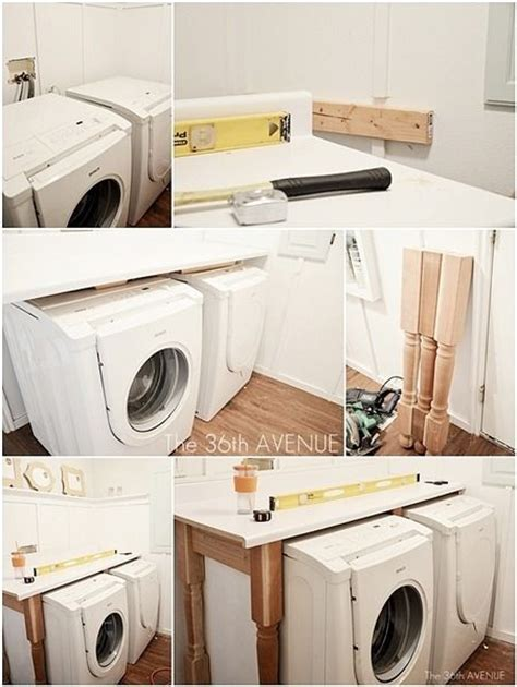 laundry room makeover laundry folding tables washers and washer and dryer