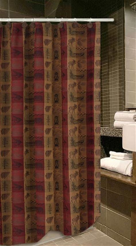 Country Cabin Curtains Clearance Lodge Outhouse Shower Curtain Accessories Cabin Place