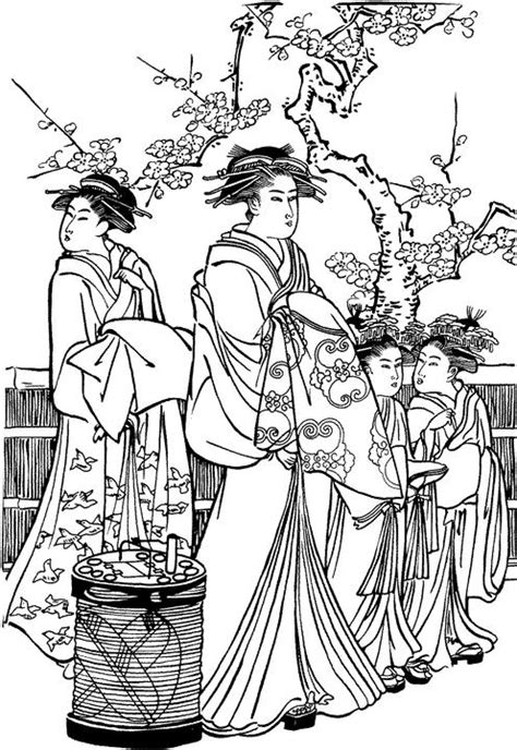 Free Printable Japanese Art | japanese art coloring pages