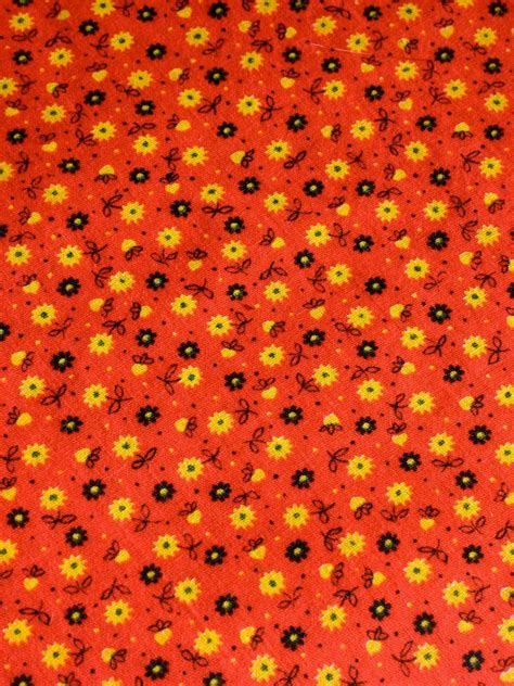 Printed Reds by Vintage Fabric Cotton Calico Print 1 Plus Yard By