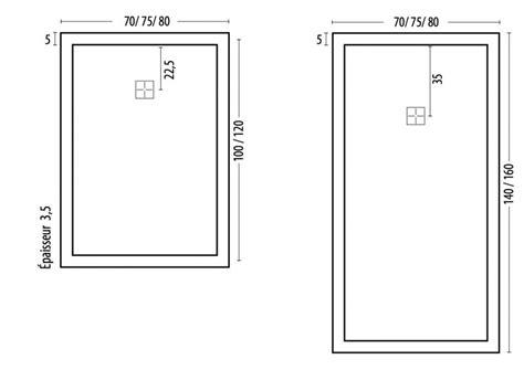 dimension receveur receveurs de longueur 100 receveur de 100 cm en r 233 sine plat