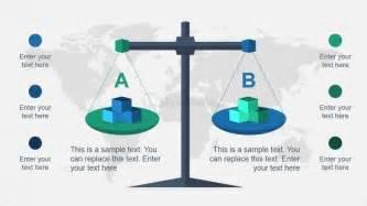 balance the scales diagram slide for powerpoint slidemodel