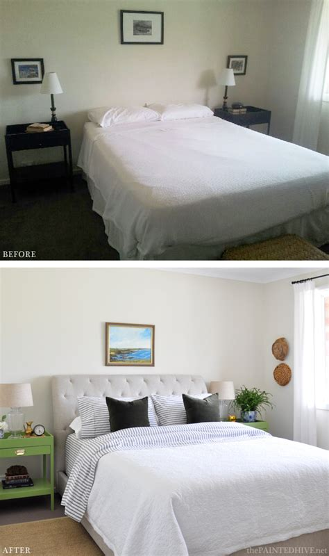 bedroom before and after pictures the painted hive an impromptu coastal bedroom makeover