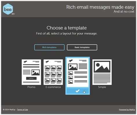 email template builder beefree a free email editor with responsive design