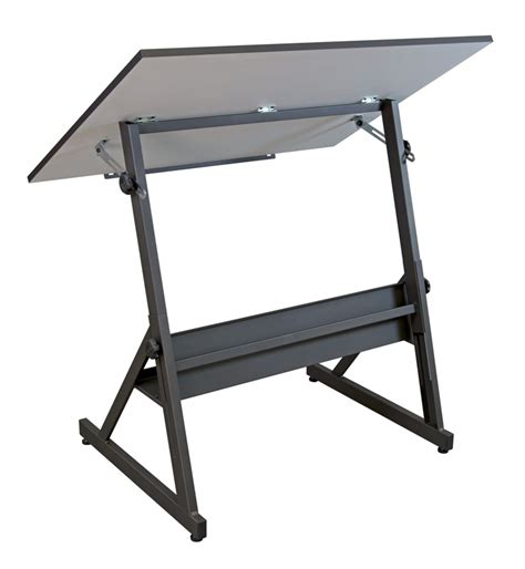 Adjustable Height Drafting Table Solano 41 75 W X 30 D Adjustable Height Drafting Table With White Wood Tilt Work Top