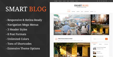 blog theme smartblog nulled smart blog wordpress theme for personal blog no warez