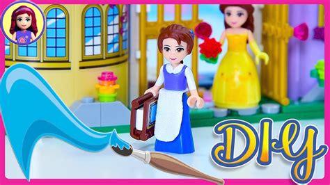 Lego Princess Diary Beautiful lego the beast blue dress custom diy mini doll disney princess how to tutorial