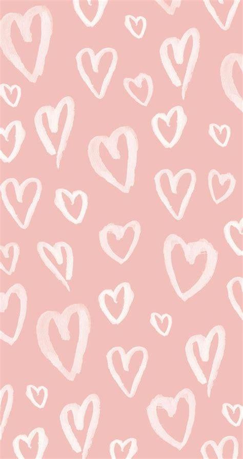 pink pattern wallpaper iphone blush pink white watercolour hearts iphone phone wallpaper
