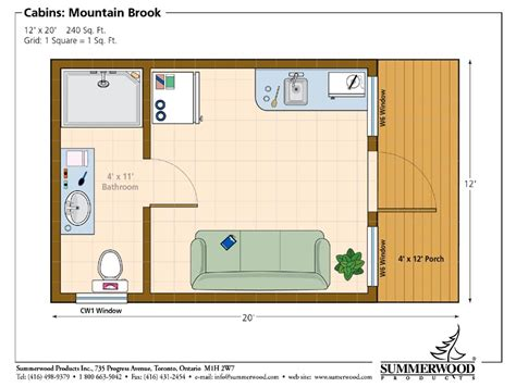 12x20 Cabin Floor Plans Quotes