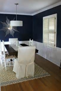 navy blue wall color for dining room for the home