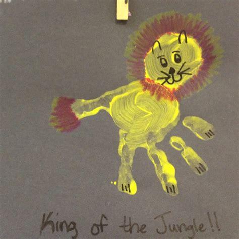 jungle crafts for handprint jungle classroom
