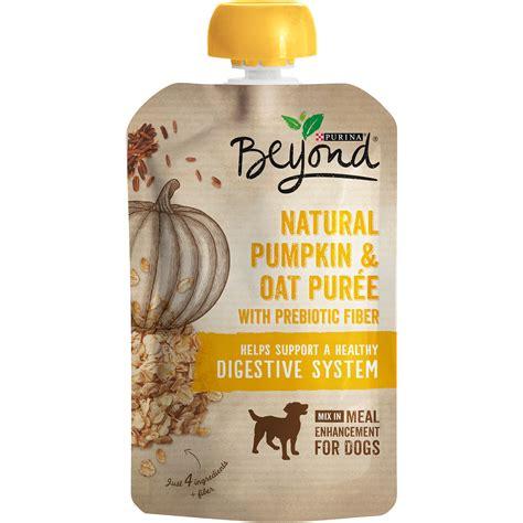 pumpkin puree for dogs purina beyond pumpkin oat puree meal enhancement pet supplies