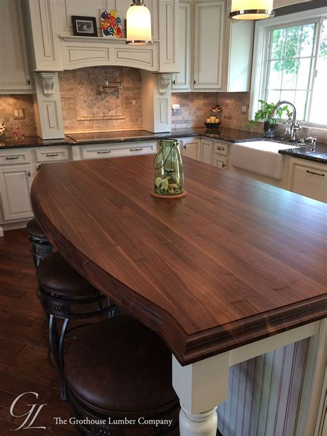 Wood Kitchen Island by Grothouse Walnut Kitchen Island Countertop In Maryland