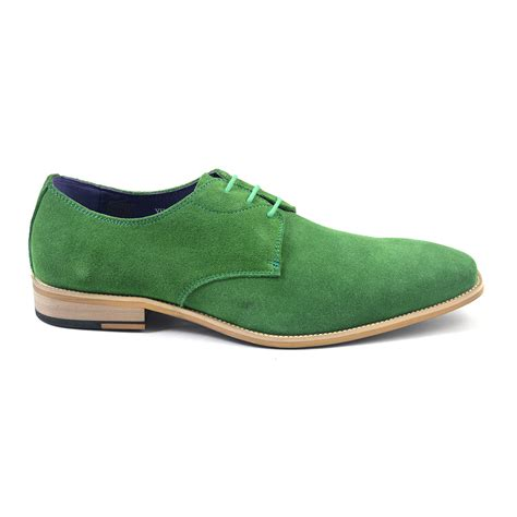 Green Suede Buy Mens Green Suede Derby Shoes Gucinari