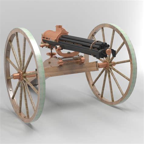 Gasing Cannon 3d gatling gun