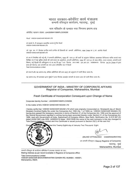 Template Memorandum Of Incorporation Logo