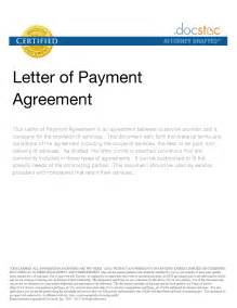 Certification Letter Payment 10 Best Images Of Letter Of Agreement For Payment Sample Payment Agreement Letter Template