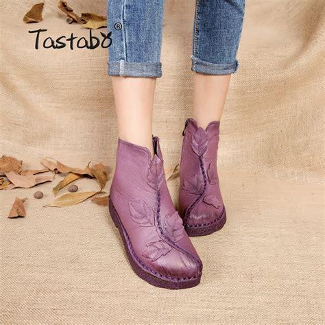Tastabo Folk Style Martin Boots - tastabo 2017 winter ankle boots handmade velvet flat