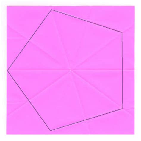 Easy Origami With Regular Paper - how to make an origami regular pentagon from a square
