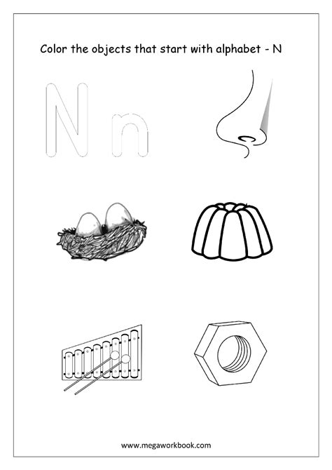 color starting with a free worksheets alphabet picture coloring