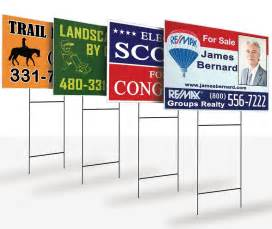 backyard signs sided yard lawn signs