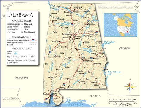 alabama map alabama map free large images
