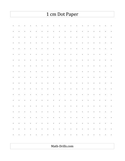 printable square dotted paper 1 cm dot paper a
