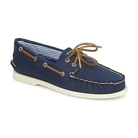 navy canvas boat shoes sperry top sider ao 2 eye canvas