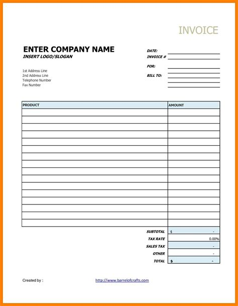 Free Template Docs 6 Drive Invoice Template Applicationleter
