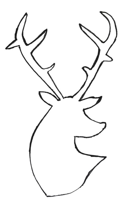 free printable reindeer head templates deer head outline cliparts co