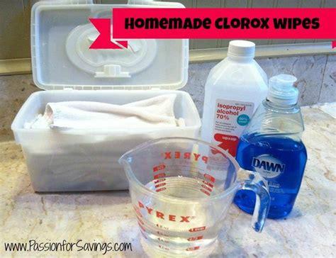 homemade clorox wipes