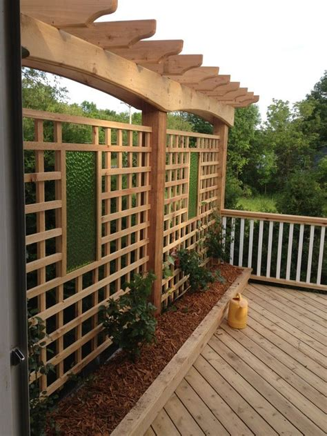 Trellis Deck deck trellis diy home projects