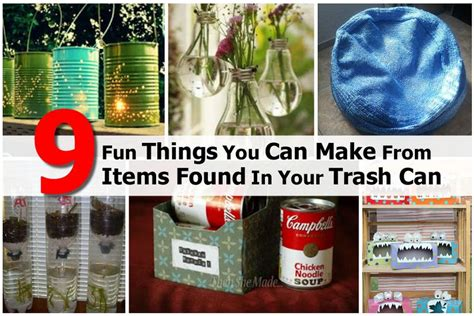 interesting useful ideas for how can you make a small 9 fun things you can make from items found in your trash can