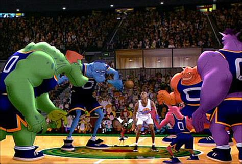 film michael jordan cartoon how good were space jam s monstars shawn bradley