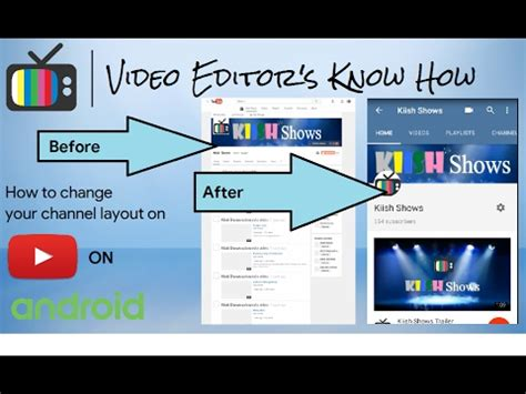 android tutorial youtube channel tutorial know how to change your youtube channel