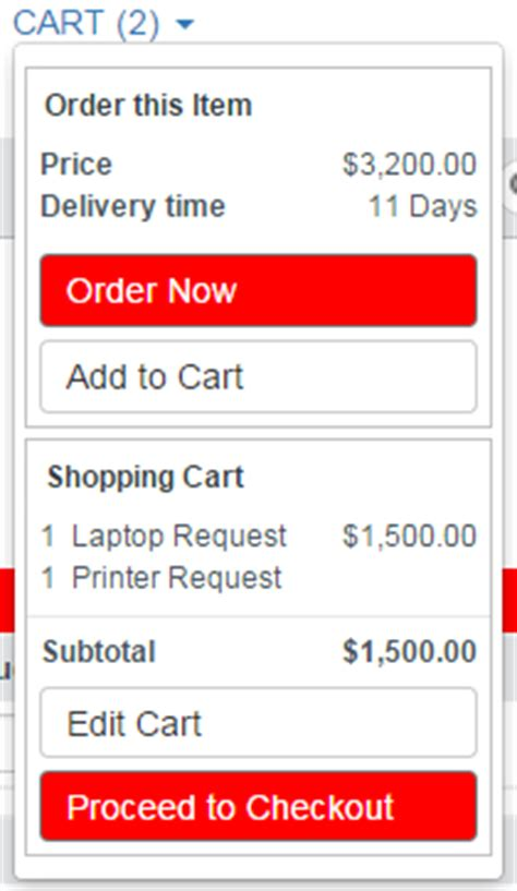 cart layout servicenow servicenow cart display on hover stack overflow