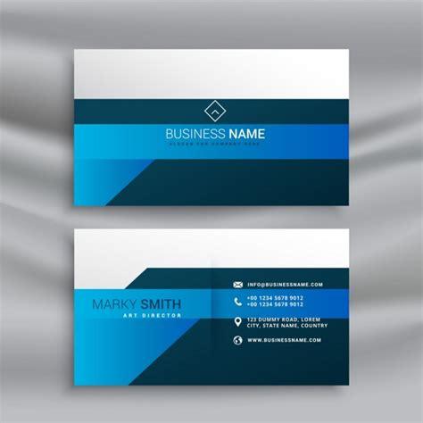 Blau K Ndigen Vorlage sauber elegante visitenkarte vorlage in blau thema