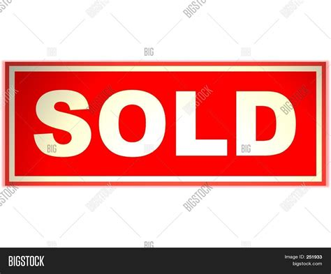 sold one womans true real estate sold sign rider image photo bigstock