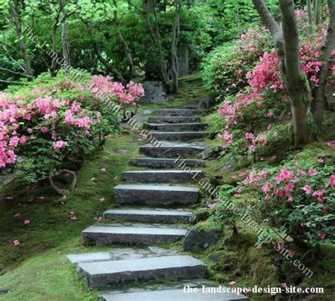 Hillside Garden Ideas Shady Woodland Hillside Steps Simple Slab Steps Leading Uphill Through A Woodland Garden