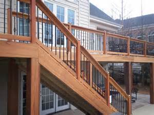 Metal Deck Spindles Hardwood Deck Railings With Decorative Metal Balusters In