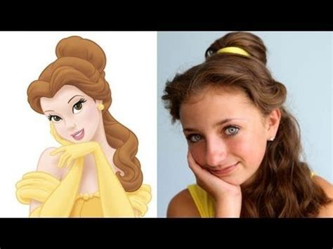 cute hairstyles disney belle s beauty and the beast hairstyle tutorial half up