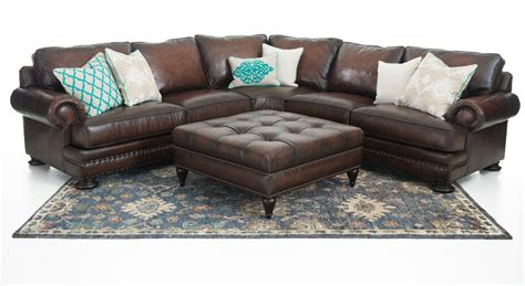 bernhardt leather sectional bernhardt foster 2 piece leather sectional weir s furniture